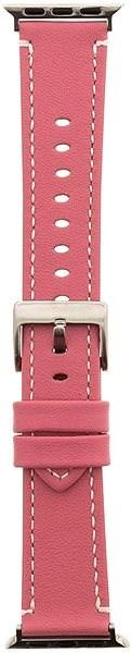 Tactical Color Kožený Pásek pro iWatch 4 44mm Pink (EU Blister) - Řemínek