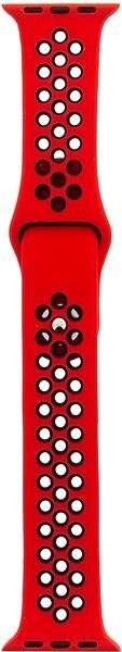 Tactical Double Silikonový řemínek pro Apple Watch 4 40mm Red/Black - Řemínek