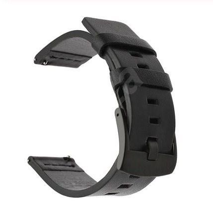 Tactical Kožený řemínek pro Samsung Galaxy Watch Active Black - Řemínek