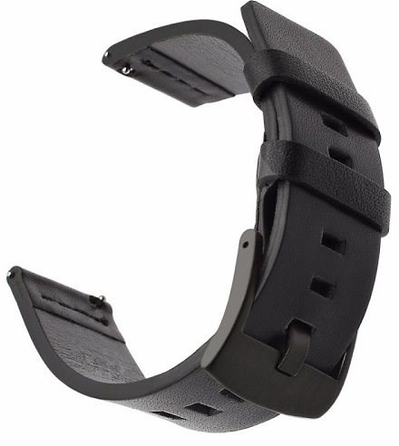 Tactical Kožený Pásek pro Samsung Gear Sport Black (EU Blister) - Řemínek