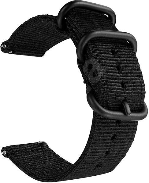 Tactical Nylon řemínek pro Samsung Gear 42mm Black - Řemínek