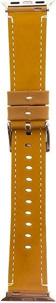 Tactical Color Kožený Pásek pro iWatch 4 44mm Gold (EU Blister) - Řemínek