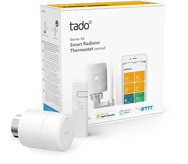 Tado Smart Radiator Thermostat – Starter Kit V3+ s vertikální instalací - Termostatická hlavice