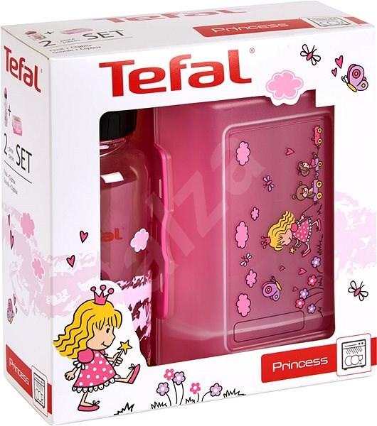 Tefal Sada dóza a láhev 0.4l KIDS růžová-princezna - Sada