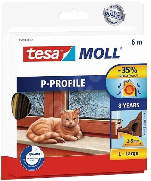 tesamoll Gumové těsnění, hnědé, P profil, 6m - Těsnění do oken