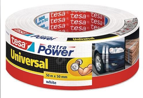 tesa Extra Power Universal, textilní, bílá, 50m:50mm - Lepicí páska