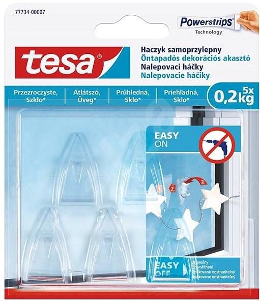 tesa Samolepicí průhledný dekorační háček na sklo 0.2kg - Háček
