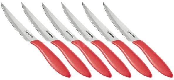 Tescoma Nůž steakový PRESTO 12cm, 6ks, červená 863056.20 - Nůž