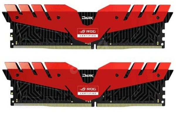 T-FORCE 16GB KIT DDR4 3000MHz CL16 Dark ROG red series - Operační paměť
