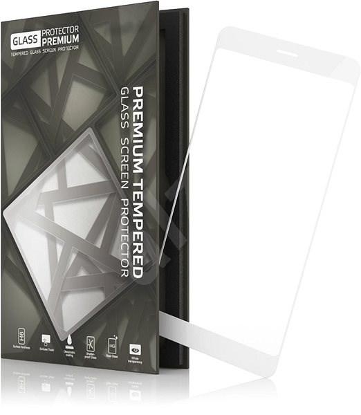 Tempered Glass Protector Rámečkové pro Huawei P Smart (2018) Bílé - Ochranné sklo