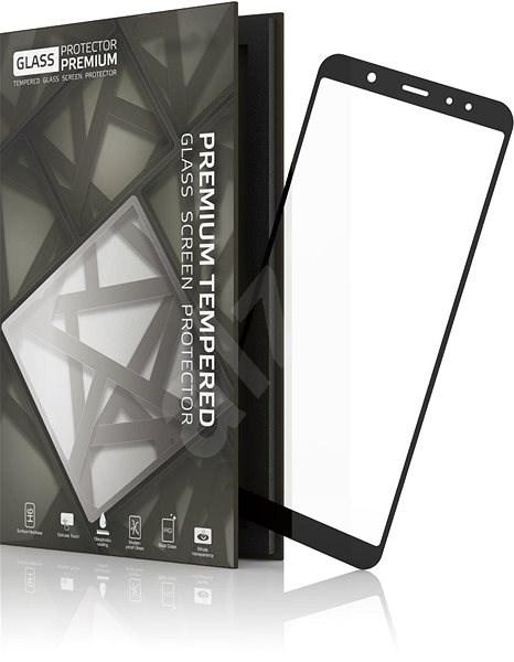 Tempered Glass Protector Rámečkové pro Samsung Galaxy A6 Černé - Ochranné sklo