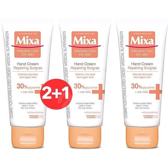MIXA Repairing Surgras Hand Cream 100 ml 2+1 - Krém na ruce