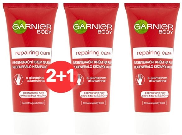 GARNIER Repairing Care Hand Cream 100 ml 2+1 - Krém na ruce
