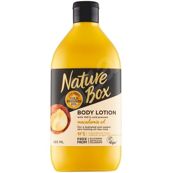 NATURE BOX Body Lotion Macadamia Oil 385 ml - Tělové mléko