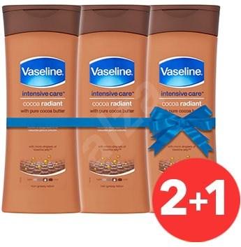 VASELINE Cocoa Radiant 3 x 400 ml - Tělové mléko