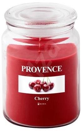 Provence Svíčka ve skle s víčkem 510g, Třešeň - Svíčka