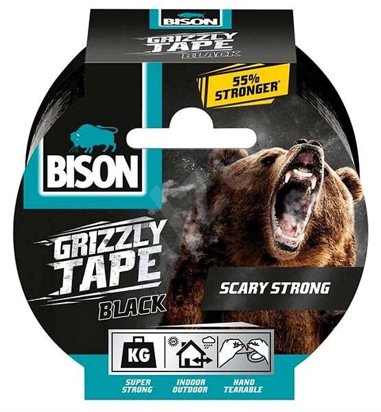 BISON GRIZZLY TAPE 10 m černá - Lepicí páska