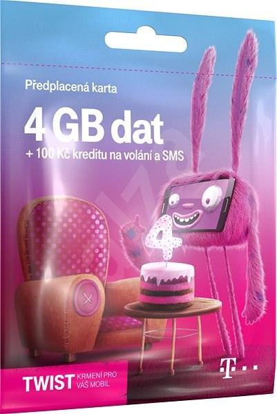Předplacená karta Twist s Námi 4GB - Mobilní internet