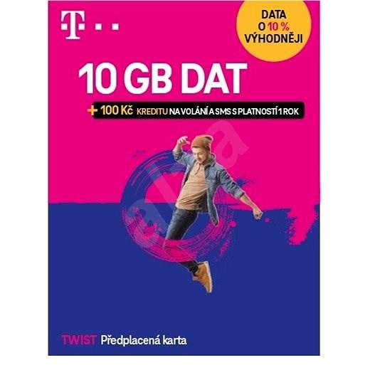 Předplacená karta Twist s Námi 5GB + 100Kč na volání a SMS - SIM karta