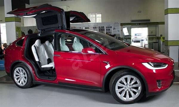 TESLA Model X D červená Elektromobil Alzacz - Automobil tesla