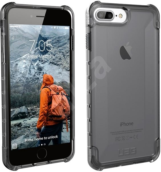 UAG Plyo case Ash Smoke iPhone 8 Plus/7 Plus/6s Plus - Kryt na mobil
