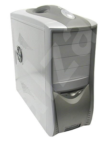 MiddleTower Ropla CARRY X, ATX-300W, i P4, přenosný case, stříbrný - Počítačová skříň