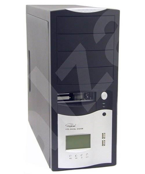 Eurocase MiddleTower 5412 černo-stříbrná 400W - Počítačová skříň