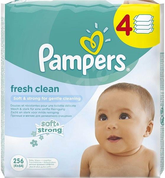 PAMPERS Fresh Clean (4× 64 ks) - Dětské vlhčené ubrousky