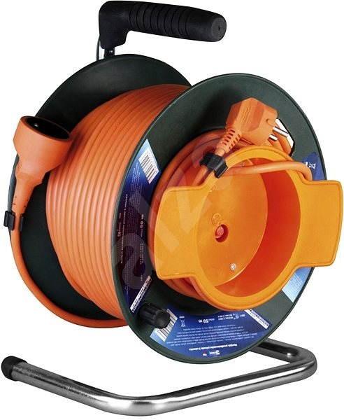 PremiumCord prodlužovací kabel 230V 50m buben, oranžový - Napájecí kabel