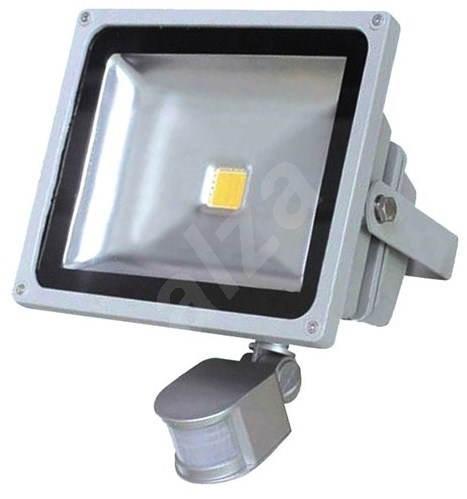 Solight venkovní reflektor se senzorem 20W, šedý - LED světlo