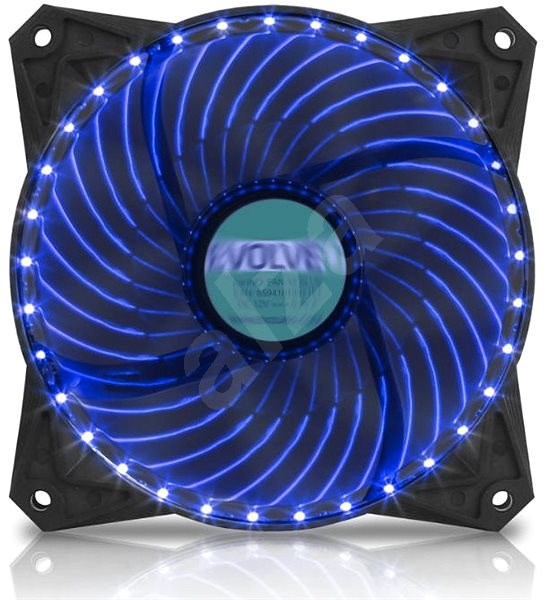 EVOLVEO 12L2BL LED 120mm modrý - Ventilátor do PC