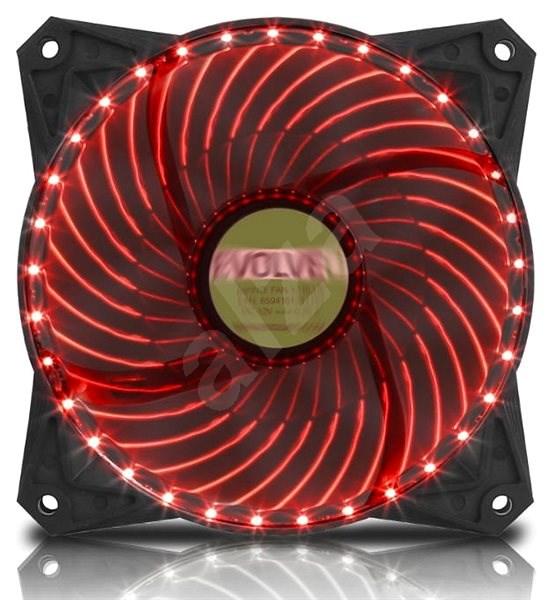 EVOLVEO 12L2RD LED 120mm červený   - Ventilátor do PC