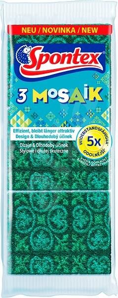 SPONTEX 3 Mosaik houbička na nádobí (3 ks) - Houbička na nádobí