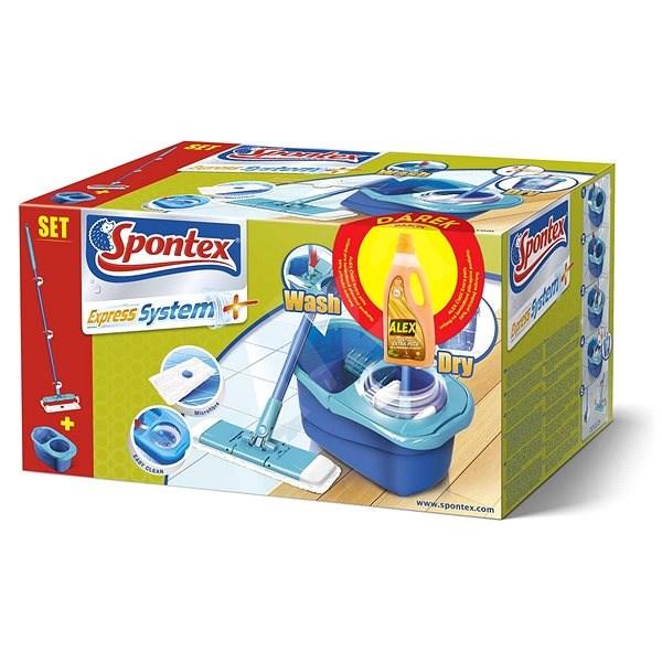 SPONTEX Spontex Express System Mop + Alex Extra-Care Laminate 750ml - Mop