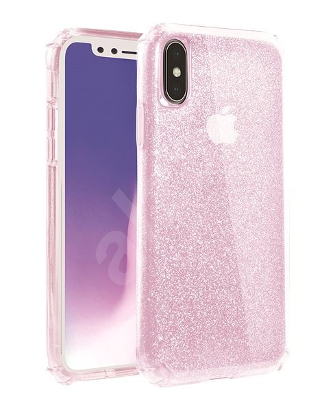 Uniq Clarion Tinsel Hybrid iPhone Xs/X Blush - Kryt na mobil
