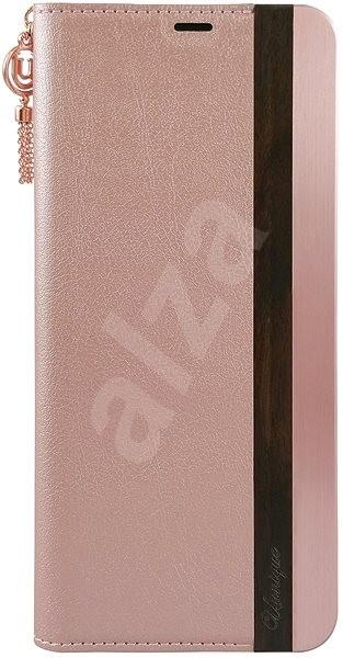 Uunique flip Wooden/Aluminium Galaxy S8 Pink - Pouzdro na mobil
