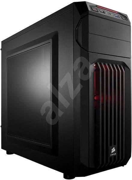 Corsair SPEC-01 Red LED Carbide Series černá s průhlednou bočnicí - Počítačová skříň
