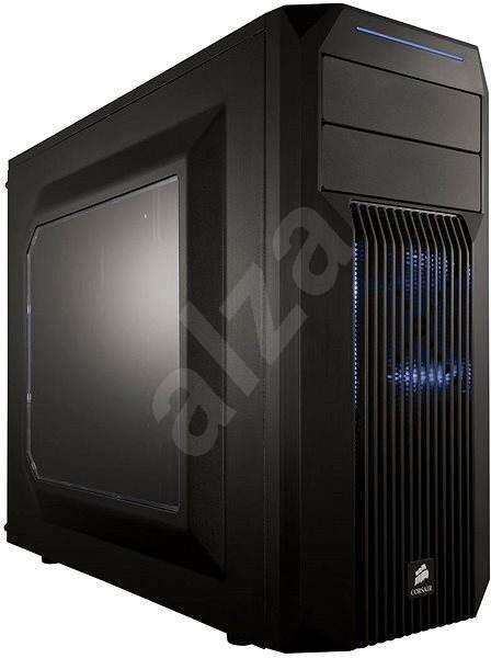 Corsair SPEC-02 Blue LED Carbide Series černá s průhlednou bočnicí - Počítačová skříň