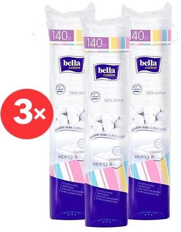 BELLA Odličovací tampony 3× 140 ks - Odličovací tampony