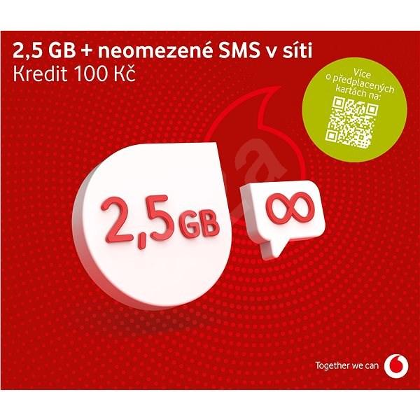 Vodafone datová karta - 1,2 GB dat - SIM karta