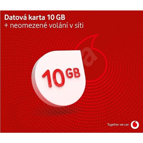 Vodafone datová karta - 10 GB dat - SIM karta
