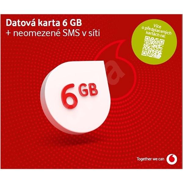 Vodafone datová karta - 3 GB dat - SIM karta