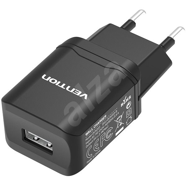 Vention Smart USB Wall Charger 10.5W Black - Nabíječka do sítě