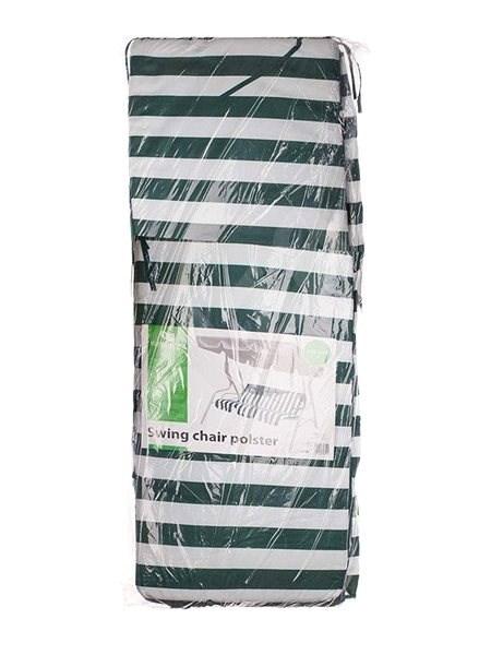 HAPPY GREEN Polstr na houpačku, zelený pruh - Polstr