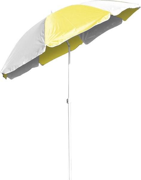 HAPPY GREEN Slunečník plážový s kloubem 180 cm, žluto-bílá - Slunečník