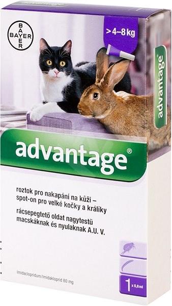 Advantage 1×0,8 ml – spot-on pro velké kočky a králíky - Antiparazitní pipeta