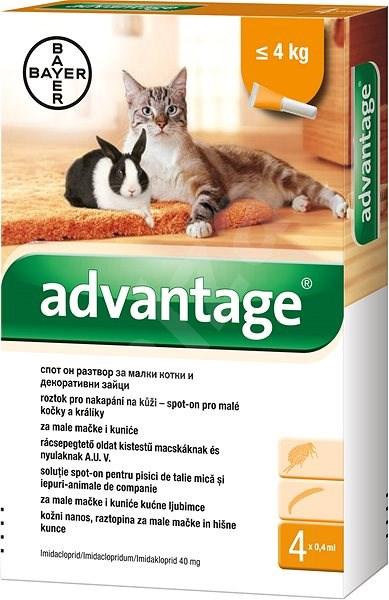Advantage 4×0,4 ml - spot-on pro malé kočky a králíky - Antiparazitní pipeta