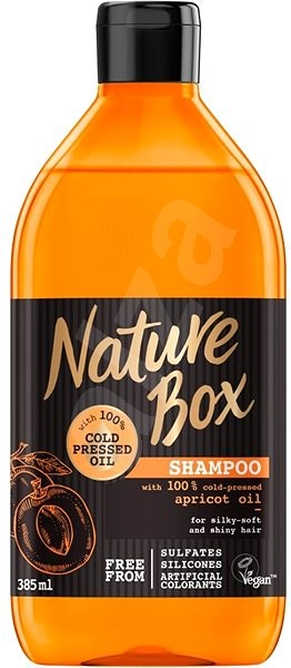 NATURE BOX Shampoo Apricot Oil 385 ml - Šampon