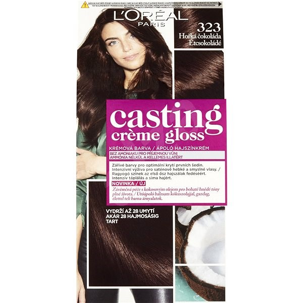 ĽORÉAL CASTING Creme Gloss 323 Hořká čokoláda - Barva na vlasy