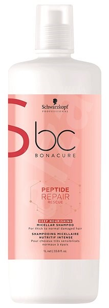 SCHWARZKOPF PROFESSIONAL BC Bonacure Peptide Repair Rescue Deep Nourishing Micellar 1000 ml - Šampon